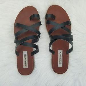 Steve Madden black multi strap sandals VGUC size 9